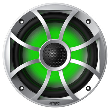 "Wet Sounds OEM Replacement 65ic-S RGB Led XS-Series Silver Cone 6.5"" Coaxial Speakers Pair"