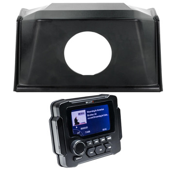 Polaris Bundle- 19+ Polaris RZR SPXRZRDASH2 Radio Mounting Kit and MB Quart GMR-LED Waterproof Radio