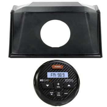 Polaris Bundle- 19+ Polaris RZR SPXRZRDASH2 Radio Mounting Kit and MB Quart GMR-3 Waterproof Radio