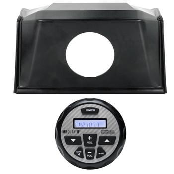 Polaris Bundle- 19+ Polaris RZR SPXRZRDASH2 Radio Mounting Kit and MB Quart GMR-2.5 Waterproof Radio