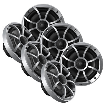 """Wet Sounds OE-65ic-S 6.5"""" OEM Replacement Speakers with Silver Grill 3 Pair"""