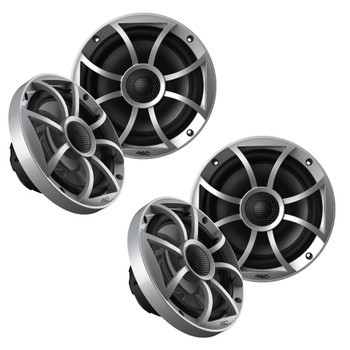 "Wet Sounds OE-65ic-S 6.5"" OEM Replacement Speakers with Silver Grill 2 Pair"