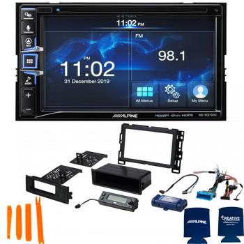 Alpine Bundle - INE-W970HD 6.5-Inch Nav Receiver & PAC RPK4-GM2301 04-08 Chevy Malibu 05-08 Pontiac G6 Installation Kit