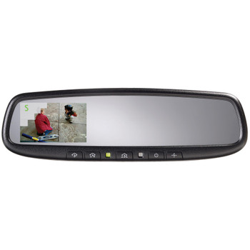 """Advent ADVGENM45S Gentex Auto Dimming Rear View Mirror with Compass and Homelink with 3.3"""" Camera Display"""