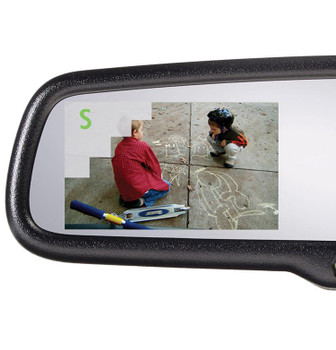 "Advent ADVGENM5S Gentex Auto Dimming Rear View Mirror with Compass with 3.3"" Camera Display"
