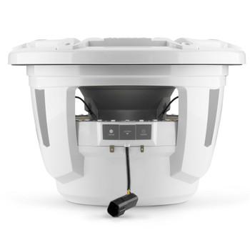 JL Audio 12-Inch M7 Marine Infinite Baffle Subwoofer, RGB LED, Gloss White, Sport Grille - SKU: M7-12IB-S-GwGw-i-4
