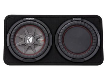 "Kicker 43TCWRT102 CompRT10 10"" Sub Thin Profile Enclosure 2 Ohm Used Very Good"