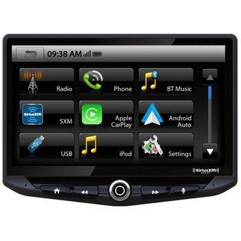 Stinger HEIGH10 UN1810 AM/FM/Audio/Video Receiver w/ 10-inch Touch Screen and Mech-less Design - Single-DIN Mounting