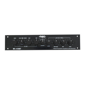 Wet Sounds WS-420BT 4-Band Parametric EQ with Bluetooth Three Zone Control