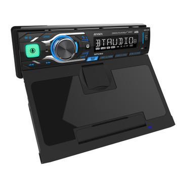 "Jensen MPQ914 Single Din Media Receiver With QI Wireless Charging and Jensen JS265 JS-Series 6.5"" speakers"