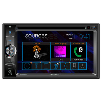 """Jensen CDR5620 2 Din 6.2"""" CD/DVD Receiver With Bluetooth compatible with Jensen BUCAM400AJ Back Up Camera"""