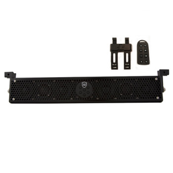 """Wet Sounds STEALTH-6 ULTRA HD-B Sound Bar with 1.75 Clamps and Sliders and SSV WP-RZ4GBS10-W 10"""" Powered Subwoofer"""