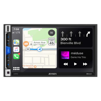 "Jensen CAR70V 7"" Digital Media Receiver Compatible With Android Auto and Apple CarPlay"