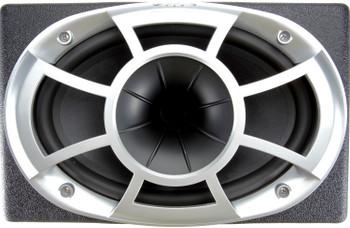 "Wet Sounds REV6X9-SM-B HCLD 6x9"" in Black Roto-Molded Enclosure & SYN-DX2 750 Watt Amplifier"