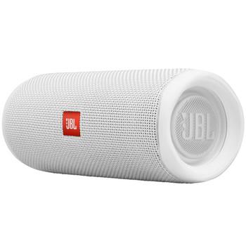 JBL FLIP5 White Waterproof portable speaker with Bluetooth, built-in battery, microphone