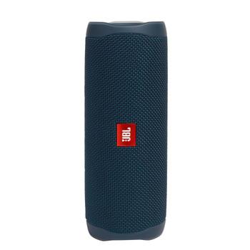 JBL FLIP5 Blue Waterproof portable speaker with Bluetooth, built-in battery, microphone