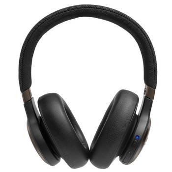 JBL Black Live Over-Ear Wireless Headphones with Noise-Cancelling and Voice Assistant