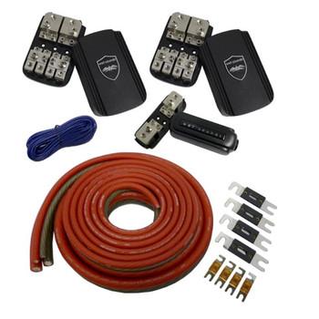 Wet Sounds Rear Battery 4 Amplifier Power Kit