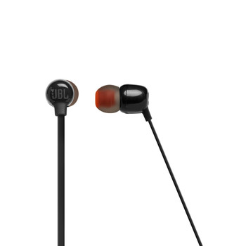 JBL Tune Black Wireless in ear headphone with 3-button mic/remote, flat cable