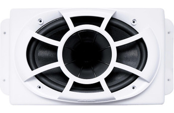 """Wet Sounds REV6X9-SM-W HCLD 6x9"""" in White Roto-Molded Enclosure & SYN-DX2 750 Watt Amplifier"""