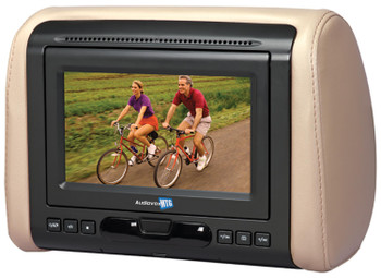 """Audiovox MTGHRM1 7"""" Headrest Monitor system, Shale, Pewter and Black covers included"""