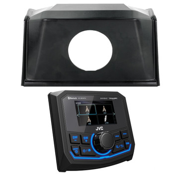 Polaris Bundle - 19+ Polaris RZR SPXRZRDASH2 Radio Mounting Kit and JVC KD-MR1BTS Waterproof Radio