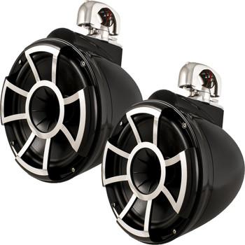 Wet Sounds REV 10 Swivel Clamp Tower Speakers - Black (Pair)