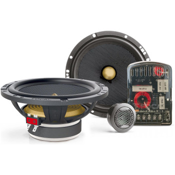 """Focal - Pair of Focal Access 165 YE 6.5"""" 2-Way Component Speakers, Pair of Focal 165AC 6.5"""" Speakers & Focal AP-4340 Amp"""