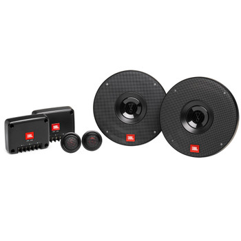 """JBL 2-Pairs CLUB-602CAM 6.5"""" Component with Alpine BBX-F1200 280W 4-Ch Amp and Wiring"""