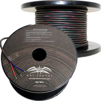 Wet Sounds 3 Conductor 18 Gauge Primary Wire-150 ft spool