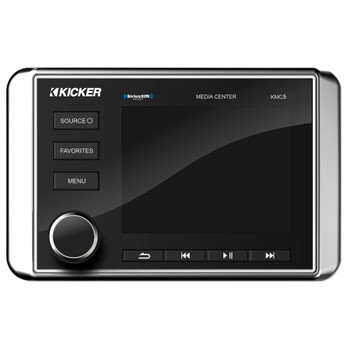 Kicker 46KMC5 Weather-Resistant Gauge-Style Media Center With Bluetooth