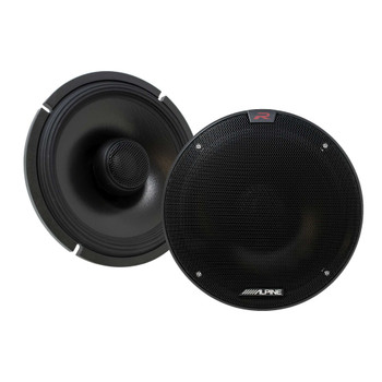 "Alpine Type-R Bundle 1-Pair R-S65C.2 6.5"" Component, 1-Pair R-S65.2 6.5"" Coax speakers, R-A60F 600W 4-Ch Amp and Wiring"