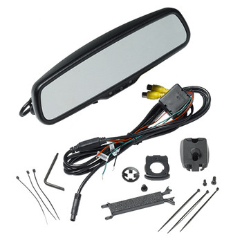 "Advent RVM200 Rear View Mirror w/4.3"" Monitor, 2 inputs Includes Standard mount & Mounts For Honda, Kia, & Hyundai"