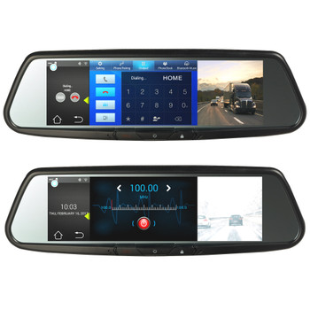 """Advent RVM740SMN Android Based Full View Replacement """"SMART""""  Rear View Mirror w/7.8"""" monitor With Navigation"""