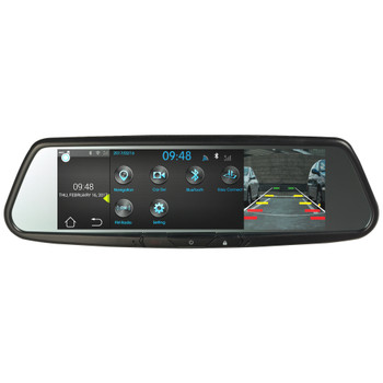 "Advent RVM740SM Android Based Full View Replacement ""SMART""  Rear View Mirror w/7.8"" wide screen monitor"
