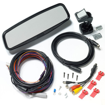 """Advent LCDM41A Replacement Rear View Mirror w/4"""" LCD Monitor & Audio, 2 inputs"""