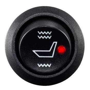 Advent SHSB1 Carbon Fiber Seat Heater (Seat & Back), 3-position switch (Hi/Off/Low)