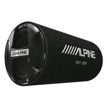 "Alpine SWT-12S4 1500W Max (300W RMS) Single 12"" Sealed Subwoofer Tube Enclosure - Used Very Good"