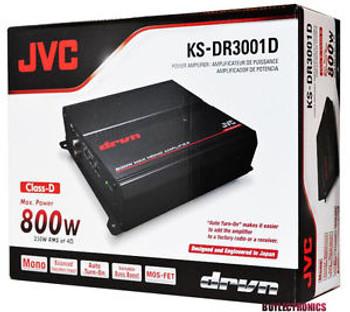 JVC KS-DR3001D 800W Peak DR Series Monoblock Class-D Power Amplifier - Used Very Good