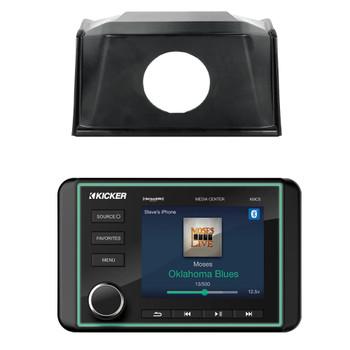 Polaris 2019 and Later RZR SPXRZRDASH2 Radio Mounting Kit and KICKER 46KMC5 Waterproof Radio