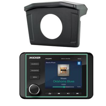 Polaris 2013-18 RANGER SPXRNGDASH Radio Mounting Kit and KICKER 46KMC5 Waterproof Radio