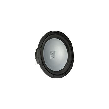 Kicker 45KM124 12 Inch Marine Subwoofer 4 Ohm White Grill with 47KLSR12 Led Lighted Speaker Ring