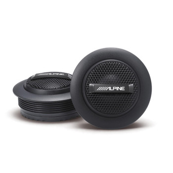 "Alpine S-S10TW S-Series 1"" Silk Dome Tweeter Set"