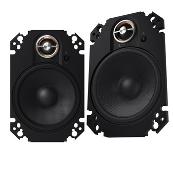 """Infinity KAPPA 2-Pairs of KAPPA-64CFXAM 4x6"""" Coax speakers with Alpine R-A60F 600W 4-Ch Amp and Wiring"""