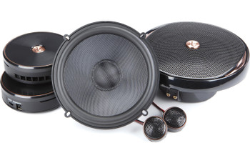 """Infinity KAPPA 2-Pairs of KAPPA-60CSXAM 6.5"""" Component Speakers with Alpine R-A60F 600W 4-Ch Amp and Wiring"""