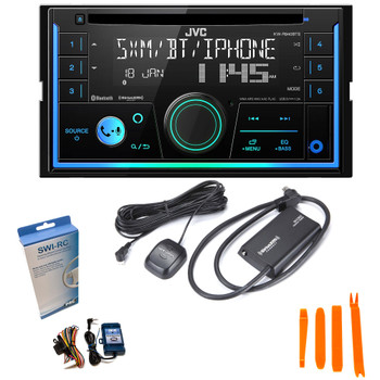 JVC KW-R940BTS 2-Din CD Receiver compatible with SXV300 SiriusXM Tuner, Bluetooth, Amazon Alexa and SWI-RC adapter