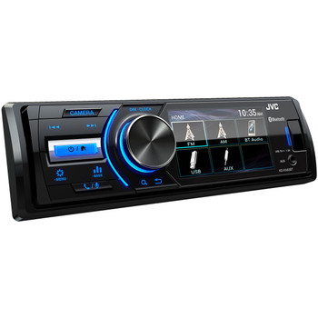 JVC KD-X560BT 1-DIN Power Sports Digital Media Receiver 3 Inch LCD Display compatible with Front Camera
