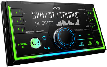 JVC KW-X840BTS 2-Din Digital Media Receiver compatible with SXV300 SiriusXM Tuner, BT, Amazon Alexa and SWI-RC adapter
