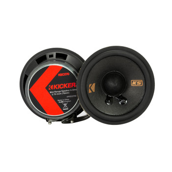 """Kicker 47KSC2704 2.75"""" Mid-range Speakers, 4ohm With Brackets for select GM/Chrysler/Subaru/Jeep and Toyota included"""