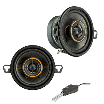"Kicker 47KSC3504 KS Series 3.5"" Coaxial Speakers With .5"" Tweeters, 4ohm"